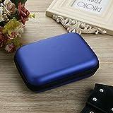 BByu Multifonctions etui Sac Housse Pochette Case rigide pour disque durs externes portables 2,5 pouces anti-choc l'eau - Bleu
