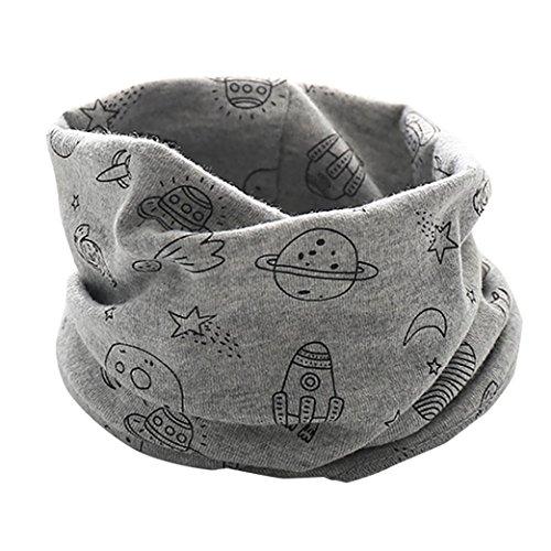 Schals Longra Baby Kinder Jungen Mädchen Neue Schals 2017 Herbst Winter Unisex Baby Baumwollschal Warme Schlauchschal Kinderschal Loopschal Baby Halstücher(0-3Jahre) (Gray)