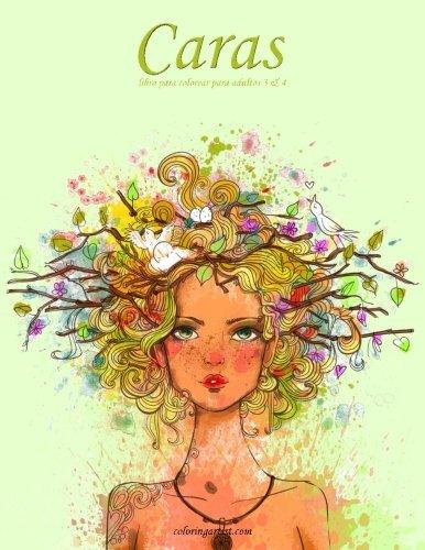 Caras libro para colorear para adultos 3 & 4 por Nick Snels