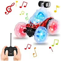 AMILE TY138 Remote Control USB Charging Vehicle Colourful Lights& Music Cool Rolling Effects Dancing Flips Over The Best RC Car Gift for Child (Red) - Compare prices on radiocontrollers.eu