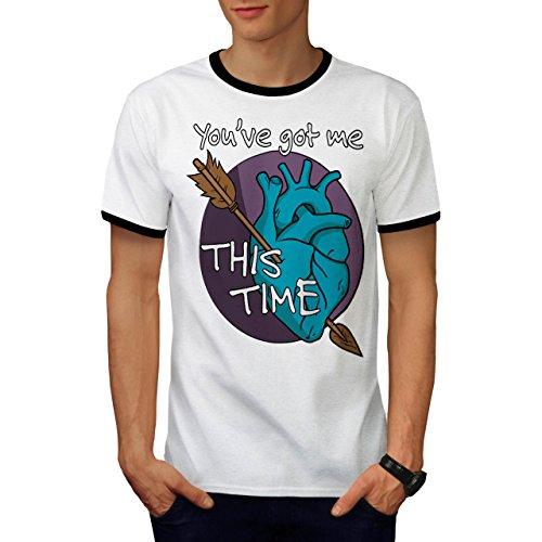 Bekam Kostüme (Sie Bekam Mich Liebe Valentine Liebe Hurts Herren S Ringer T-shirt |)