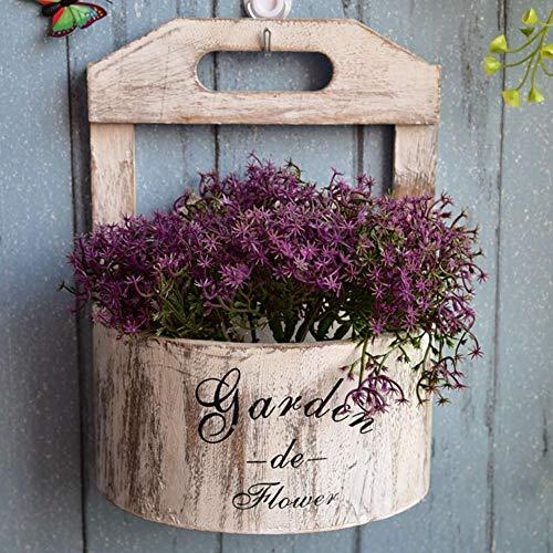 TARTIERY Makramee Blumenampel Hängeampel Blumentopf Pflanzen Halter Aufhänger Für Innen Außen Decken Balkone Wanddekoration
