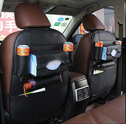 IU Car Case Pocket Simulation Leder Auto Sitz Back Pocket Rückseite zum Aufhängen Tasche Auto Aufbewahrungstasche Auto Innen Aufbewahrungstasche Composition: round cup holder box, horizontal sh B