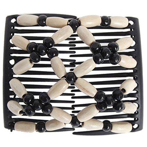 JUSTFOX – African Trend Haarklammer Haarspange Haarclip in weiß