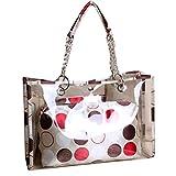 AiSi Damen Mädchen transparente Handtasche wasserdichte Damenhandtaschen Abendtasche durchsichtig...