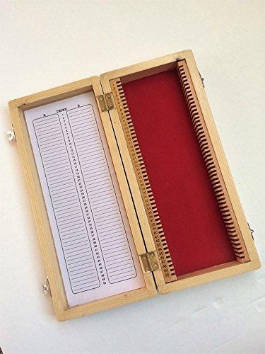 Yantra Holz-Mikroskop-Box, Aufbewahrungsbox für 50 Dias (Dia-aufbewahrungsbox)