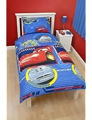 Character World DCA-SPY-MS2-MSC-06 Disney Cars Spy Parure de Lit 1 pers Housse de couette (135cm x 200cm) et 1 taie d'oreiller (48x74cm) Dessin à répetiton- 100% Polyester