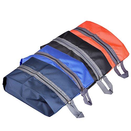 Mogoko wasserdicht Schuhbeutel Aufbewahrungstasche Organizer-Taschen für Outdoor-Sport, Camping, Wandern, Reisen Schuhetasche Veranstalter Beutel mit Reissverschluss (4 Farben Mix)