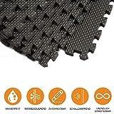 bonsport Schutzmatten Set 40x40 cm - 12 Eva Fitness Puzzlematten - Bodenschutzmatten für den Fitnessraum oder Keller