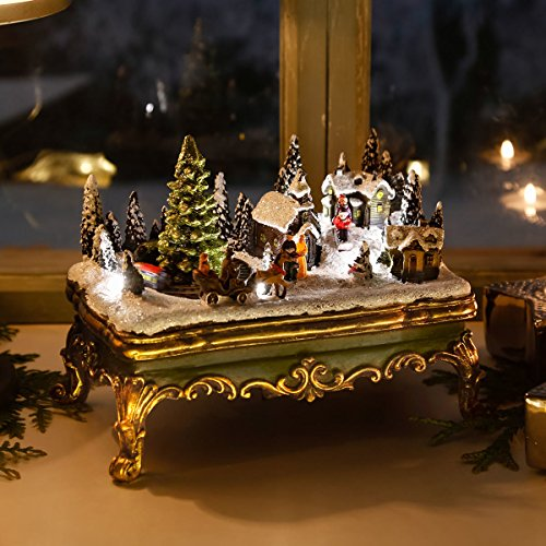 LED-Winterszene Weihnachtsdorf