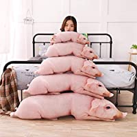 1Pc 50cm Simulated Sleeping Pig Plush Pillow Animals Stuffed Pillows Kids Adults Pets Bolster Sofa Chair Decor Friend Gift