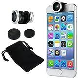 XCSOURCE Téléphone Kit Objectif Aappareil Photo 180 Degrés Objectif Fish Eye + 0.67x Grand Angle + Micro-objectis pour iPhone 6 / 6plus / 6S DC675 Argent