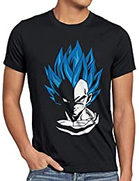 style3 Super Vegeta Blue God Modus Herren T-Shirt