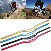 MTB Mountain Bike Bicycle Aluminum Aleación 31.8 x 780 mm Riser Manillar (Color: negro)