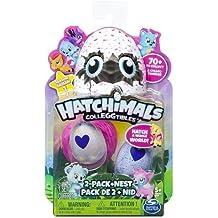 Hatchimals - Pack de 2 figuras coleccionable (Bizak 61921914)