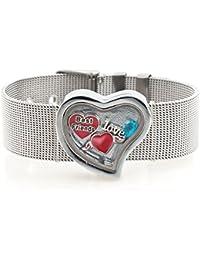 El mejor amigo del Love Living Pugster flotante con camafeo de corazón Pulsera de mala calidad