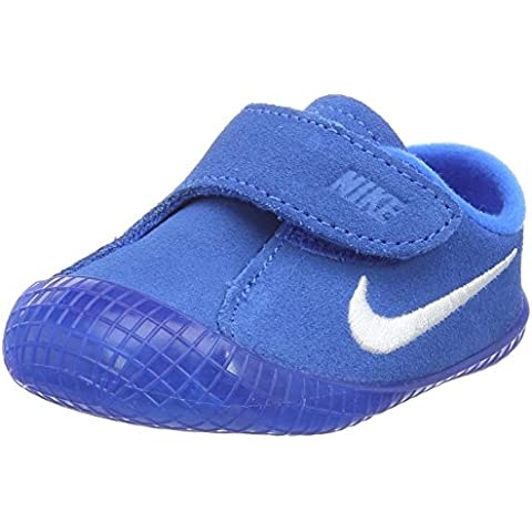 Nike Waffle 1 (CBV) - Zapatillas unisex;infantil, color azul claro / blanco, talla 2C