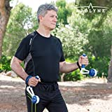 Apolyne Walk & Weight Hantel Ballast mit Holzgriffen, Unisex Erwachsene, Blau, Einheitsgröße