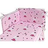 Parure de lit bébé - 3 pièces en coton Bio avec Tour du lit Kitty chaton