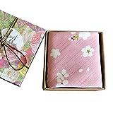 Chinashow Womens/Girls Vintage Floral Print Baumwolle Taschentücher Floral Taschentuch mit Geschenkbox A01