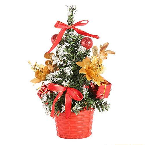 hysxm 20Cm Weihnachten Mini Kleine Kiefer Tischdekoration Ornamente Weihnachtsschmuck Für Home Xmas Tree (Ornaments Tree Halloween Mini)