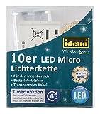 Idena LED Lichterkette Micro 10er, für Innen, Länge 1,20 m, warmweiß, 31114