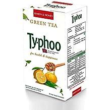 Typhoo, Natural Green Tea Lemon & Honey with 25 Heat Sealed enveloped Bags for Unisex,(Multi-colour)