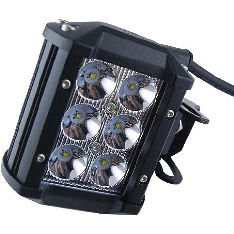 Prueba THG 2x 18W 6x3w CREE LED trabaja ATV 4X4 Off Road Luz de trabajo L¨¢mpara IP68 Agua Para 4x4 Off Road SUV del coche cami¨®n de remolque del tractor ATV UTV RV