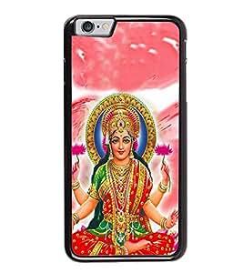 FUSON Hindu Goddess Lakshmi Lotus Designer Back Case Cover for Apple iPhone 6