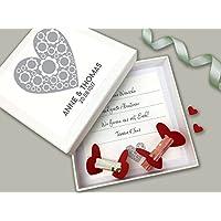 Geldgeschenk zur Hochzeit PERSONALISIERT Silber