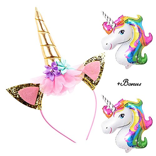 DRESHOW Unicorn Gifts for Girls Unicorn Drawstring Backpack/Magic Reversible Sequin Pillow Cover/Coin Purse/Eye Mask Gift Sets for Party Christmas