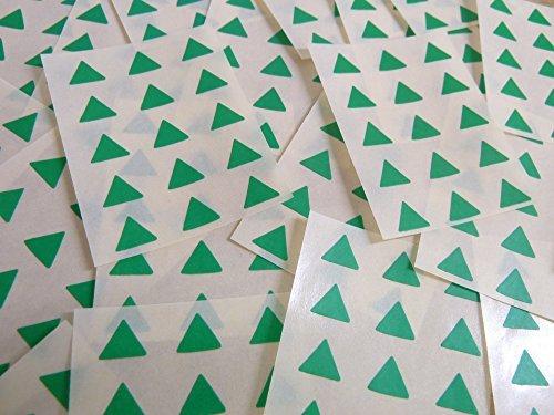 Pequeño 10mm Triangular Verde Medio Código De Color Pegatinas, 150 autoadhesivo Triángulos De Triángulo Adhesivo Etiquetas Colores