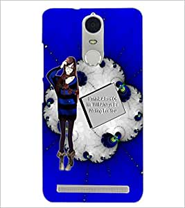 PrintDhaba Girl with Love Quote D-1041 Back Case Cover for LENOVO K5 NOTE (Multi-Coloured)
