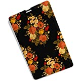 Pendrive   PD-OF-21   Credit Card Type Flower Print 8GB Pen Drive, Fancy Design And Digital Printed Pendrive By 100yellow