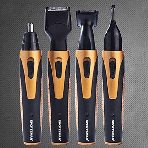 BlackRomance 4 en 1 cara afeitado afeitado Set, resistente al agua batería...