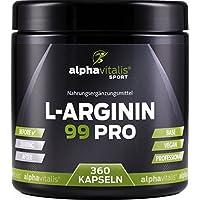 L-Arginin 99 PRO - vegan - 99% Wirkstoff ohne Magnesiumstearat - 360 Kapseln in Premiumqualität - allergikergeeignet... preisvergleich bei fajdalomcsillapitas.eu