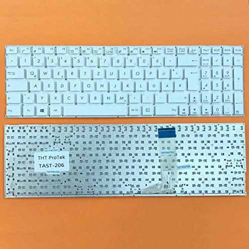 kompatibel für ASUS R753UV, R753UW DEUTSCHE - Weiß Tastatur Keyboard ohne Rahmen