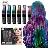 Supmaker Hair Chalk Combs Temporary Hair Dye Pennello per Capelli per Adulti Kids (confezione da 12)