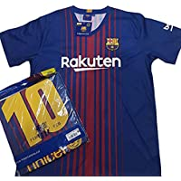 Camiseta 1ª Equipación Replica Oficial FC BARCELONA 2017-2018 Dorsal MESSI  - Tallaje ADULTO ( 613abb7298077