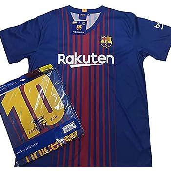 a9508df1a406f Camiseta 1ª Equipación Replica Oficial FC BARCELONA 2017-2018 Dorsal MESSI  - Tallaje ADULTO (