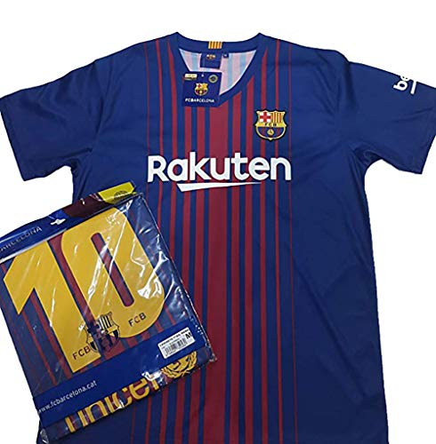 Camiseta 1ª Equipación Replica Oficial FC BARCELONA 2017-2018 Dorsal MESSI - Tallaje ADULTO (XL)