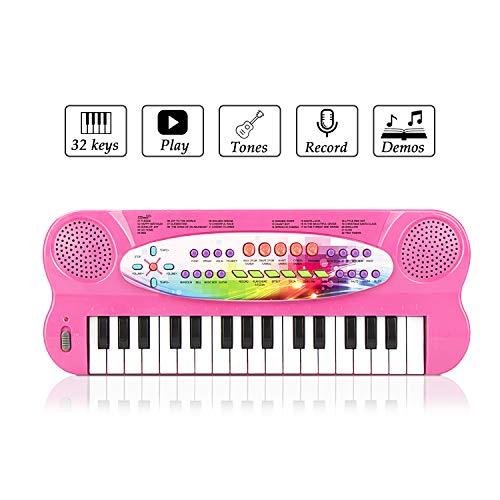 JINRUCHE Kids Piano, 32 teclas multifunción, teclado