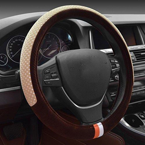set di volante di brevi confortevole sudore inverno set generali caldi peluche di forniture automobilistiche (38cm) , meters style coffee