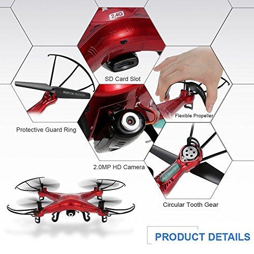 395e38ecd5a GoolRC Syma X5C Exlorers 2.4G - Dron Quadcopter de 6 ejes con control  remoto y