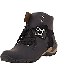 Lizaa Ldp Black Casual Boots For Mens,Stylish Men's Casual Canvas Shoes In Black, Camel, Colour,Shoes For Mens...
