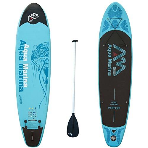 #Stand up Paddling Surfboard Paddel SUP Board ISUP 330cm aufblasbar inkl. Paddel Hochdruck-Handpumpe Transportrucksack AQUA MARINA VAPOR#