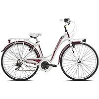 "'Torpado vélo City partenaires 28""Femme Alu 7V taille 46Blanc/Rouge (City)/Bicycle City partenaires 28Lady alu 7S Size 46white/red (City)"