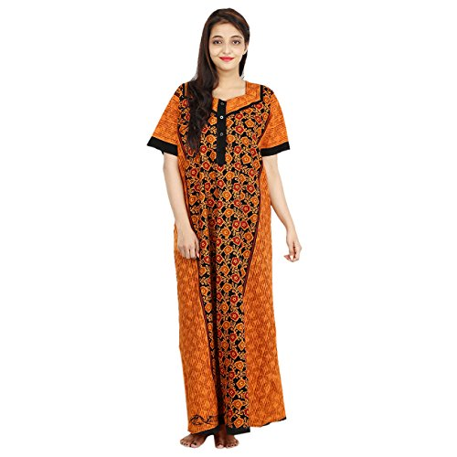 WOMEN'S PREMIUM NIGHTY, SOFTEST P.C. FABRIC, S/M/L/XL/XXL FRONT OPEN. 100% GURANTEED- NO COLOUR FADING OR ANY SHRINKAGE PROBLEM  available at amazon for Rs.340