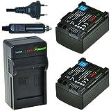 ChiliPower BP-808 Kit: 2x Batterie (950mAh) + Chargeur pour Canon VIXIA HF G10, HF G20, HF M30, HF M31, HF M32, HF M40, HF M41, HF M300, HF M400, HF S10, HF S11, HF S20, HF S21, HF S30, HF S100, HF S200, HF10, HF11, HF100, HF20, HF21, HF200, HG20, HG21, HG30, XA10, FS21, FS22, FS31, FS40, FS200, FS300, FS400