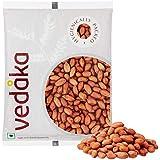 Amazon Brand - Vedaka Raw Peanuts, Red, 500g.